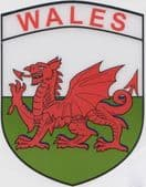 WALES CAR STICKERS