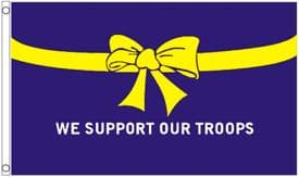We Support Our Troops Blue 3'x2' (90cm x 60cm) Flag
