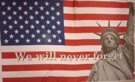 We Will Never Forget 911 5'x3' (150cm x 90cm) Flag