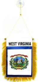 West Virginia US State Hanging Car Flag Pennant
