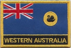 Western Australia Flag Embroidered Rectangular Patch Badge