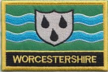 Worcestershire Flag Embroidered Rectangular Patch