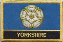 Yorkshire Flag Embroidered Rectangular Patch