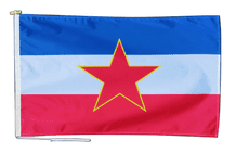 Yugoslavia 1946 to 1992 Flag With Rope and Toggle - Various Sizes