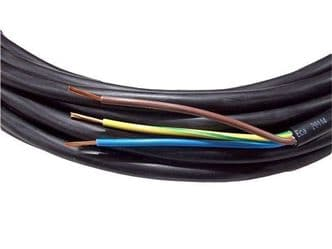 12metre cutting of 3 core 2.5mm H07RN-F rubber flexible cable