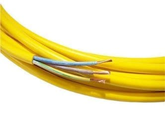 14m cutting only of 3 core 2.5mm yellow arctic flex