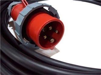 20m  400v 3 phase 4 pin  16a extension lead (2.5mm H07 cable) IP67 Rated