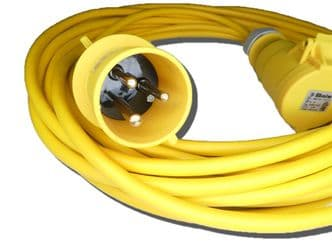 3m 110v 32amp extension lead (4mm cable) IP44 rated