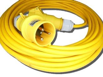 3m 110v 32amp extension lead (6mm cable) IP44 rated