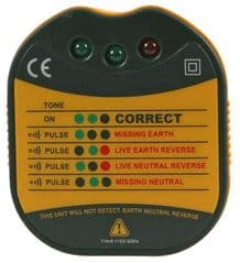 230V Mains Socket Tester with Audible Tone - 13A