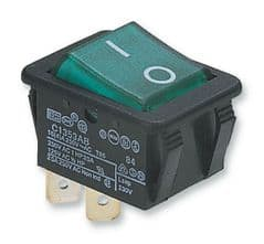 ARCOLECTRIC C1353AB0/1GRN  Switch Dpst 16A 250V Illum Green