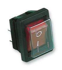 ARCOLECTRIC C1353ALGNF  Rocker Switch Dpst Illum Red