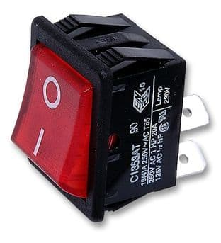 ARCOLECTRIC C1353ATNAN  Switch Dpst 16A 250Vac Ill Red I/O