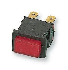 ARCOLECTRIC H8353ABBLK/RED  Switch Push Dpst Latching Red Illum