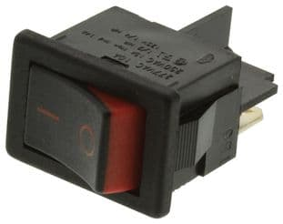 ARCOLECTRIC H8500XBAAA  Rocker Switch Spst Black/Red I/O