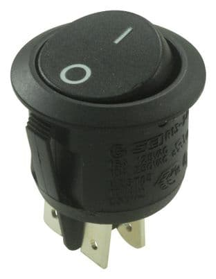 ARCOLECTRIC R13244AAAA  Switch Rocker Dpst Blk I/O