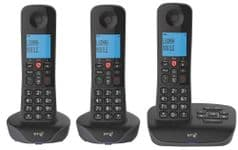 BT Essential DECT Phones with Call Blocking and Answer Machine, Trio Handsets