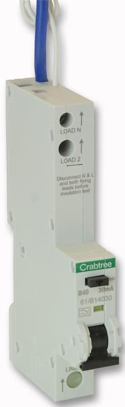 CRABTREE 61/B14030  40A 30Ma Sp Type B Curve Rcbo