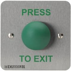 DEFENDER SECURITY DEF-0657-1PTE  Green Dome Press To Exit Button