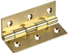 DURATOOL D02049  Brass Hinge Dsw Polished 3