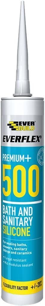 EVERBUILD 500TR  Silicone Sanitary Clear C3