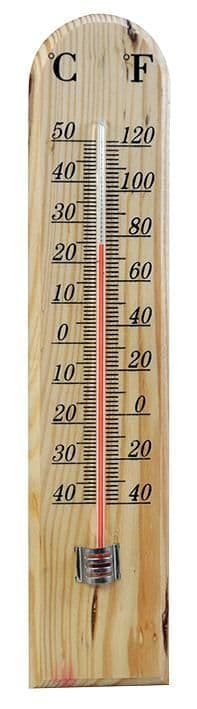 KINGFISHER GSTH02  Wooden Thermometer