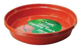 KINGFISHER TRAY3  Plant Pot Trays For 20Cm(8In) Pots (Pk3)