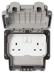 MK K56482GRY  13A 2G Switched Socket