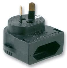 POWERCONNECTIONS CP3B  Euro Cee7 Plug To Aust 2P Blk