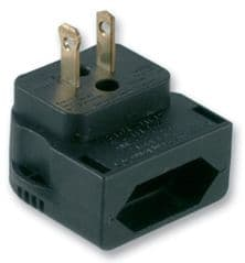 POWERCONNECTIONS CP4A  Euro Cee7 To American 2P Black