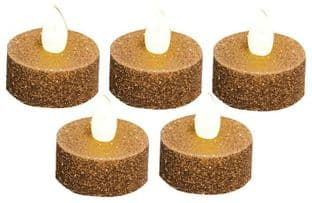 PREMIER LB101540GOLD  Tea Lights Large 5 Pack Gold