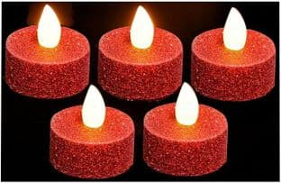PREMIER LB101540RED  Tea Lights Large 5 Pack Red
