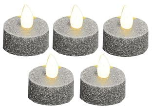 PREMIER LB101540SILVER  Tea Lights Large 5 Pack Silver
