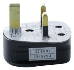 PRO ELEC 9518 13A BLACK  Uk Mains Plug Black (13A Fuse Fitted)