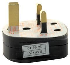 PRO ELEC 9518 3A BLACK  Uk Mains Plug Black (3A Fuse Fitted)