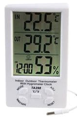 PRO SIGNAL PSG08483  Thermo Hygrometer With Clock In/Out