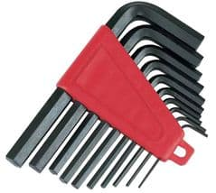 SILVERLINE HK11  Hex Key Set Metric 10Pc