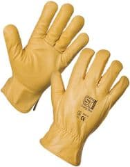 ST 20644  Leather Driving Gloves Lined Xl