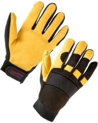 ST 24343  Leather Mechanics Gloves L