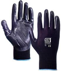 ST 26771  Glove Nitrile Coated Black S