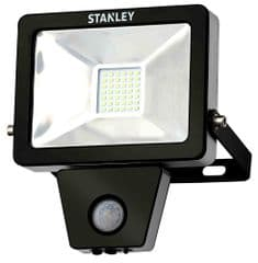 STANLEY SXLS300063KBE  Floodlight 10W Led Slim Pir 3000K