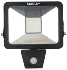 STANLEY SXLS300086KBE  Floodlight 30W Led Slim Pir 6000K