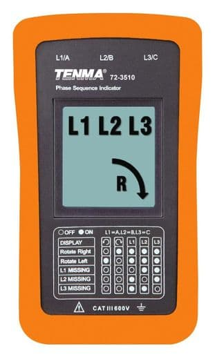 TENMA 72-3515  Phase Sequence Indicator