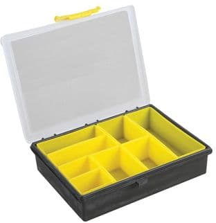 Compartment Storage Box Yellow - 55mm x 240mm x 195mm - DURATOOL D01930