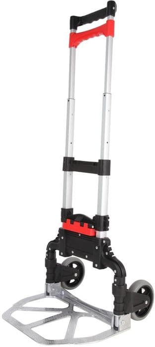 Folding Sack Truck with Basket Catcher System, 68kg - DURATOOL D03178