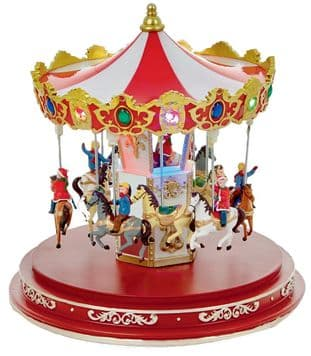 Light-Up Animated Christmas Carousel Ornament - PREMIER LV161308