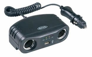 RING AUTOMOTIVE RMS7  Twin 12V Multisocket With Usb