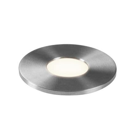 Astro 1201003 Terra Round 28 LED Ground Light Brushed Stainless Steel