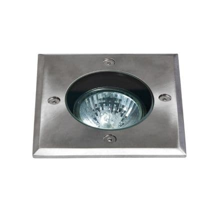 Astro 1312003 Gramos Square Ground Light Brushed Stainless Steel