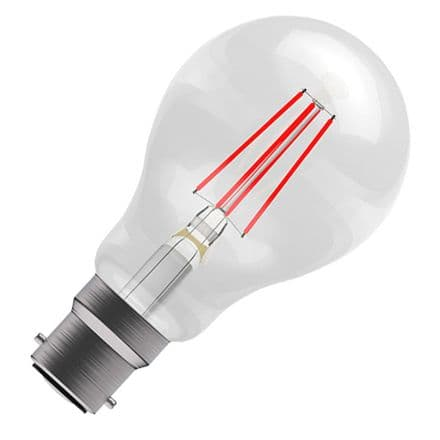 BELL Red Coloured  LED Filament GLS 4w BC